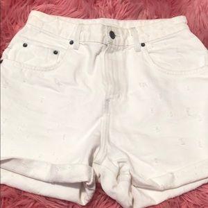 Carmar white denim shorts